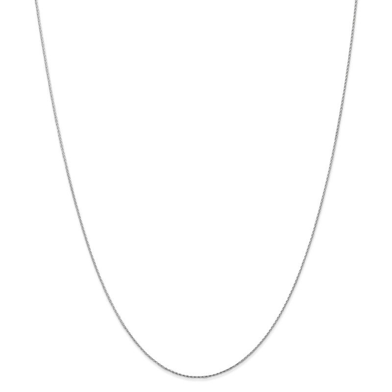 Leslie's Leslie's 14K White Gold .8mm D/C Round Wheat Chain