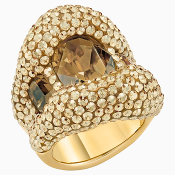 Tigris Cocktail Ring, Gold tone, Gold-tone plated