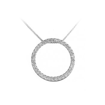 925 SS & Diamond Circle Pendant