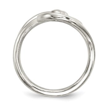 Sterling Silver Polished Fancy Swirl Ring
