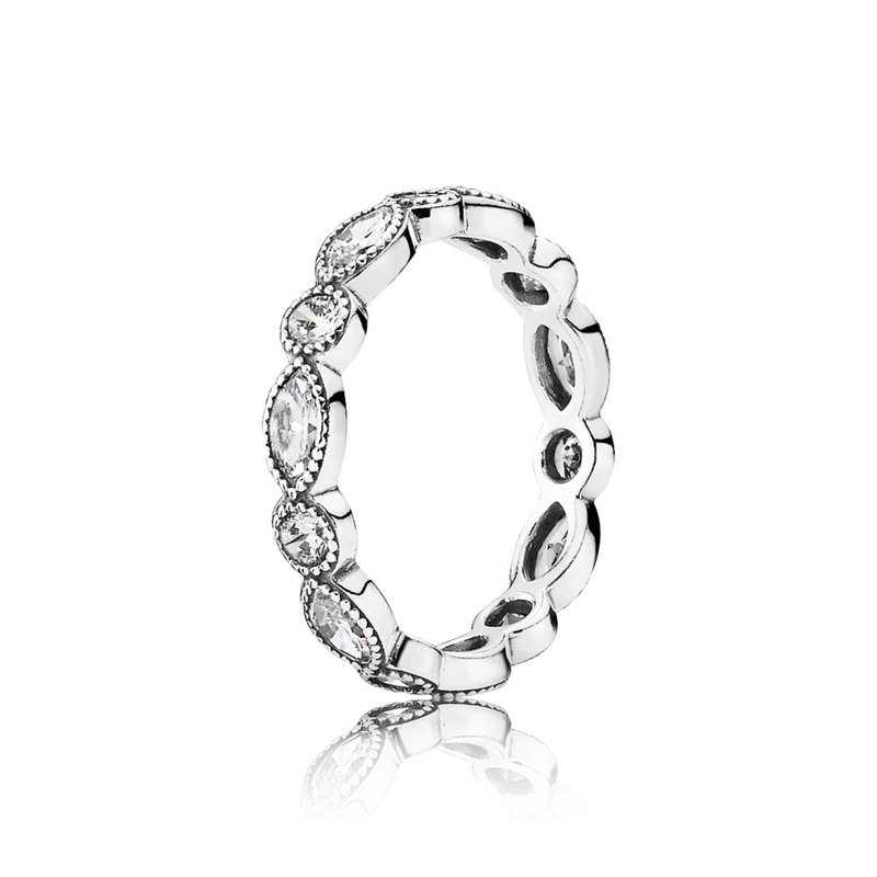 PANDORA Alluring Brilliant Marquise Stackable Ring, Cz