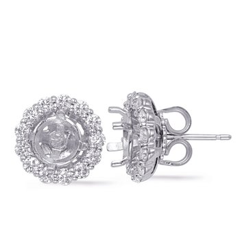 White Gold Jackets Earring 1ct each