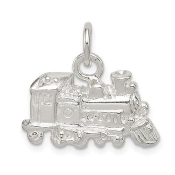 Sterling Silver Train Engine Charm