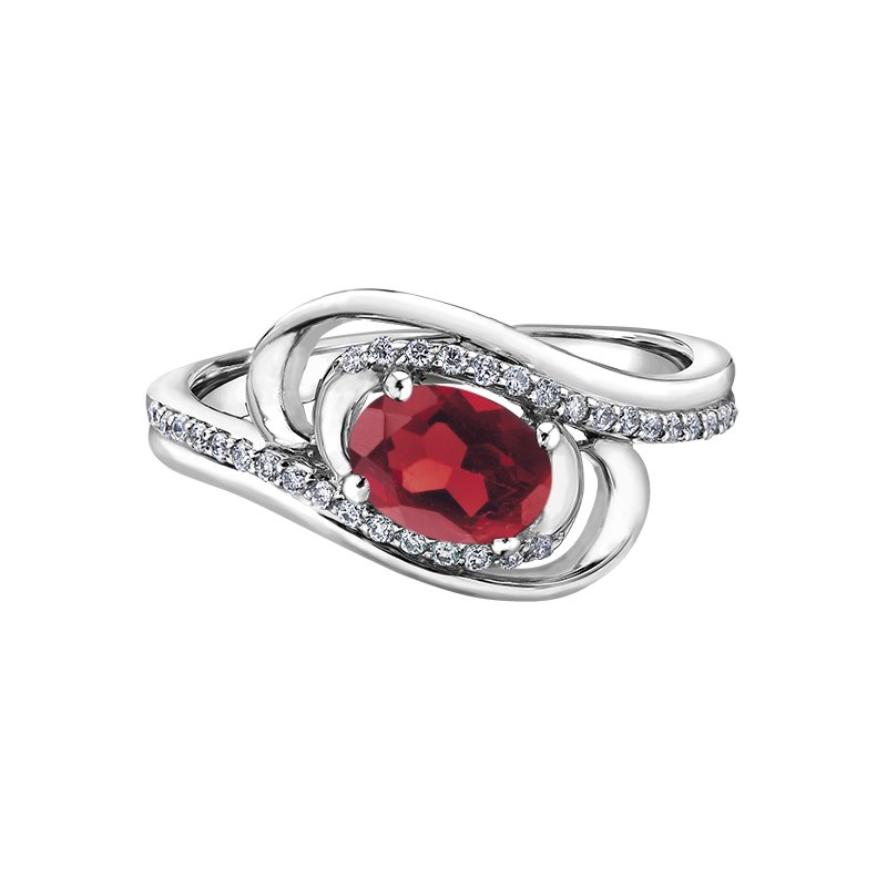 Diamond Days Ruby Ladies Ring