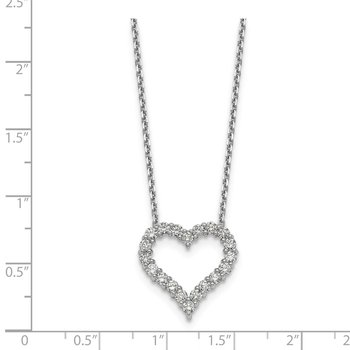 14kr True Origin Lab Grown Dia VS/SI D,E,F Heart Pendant with Chain
