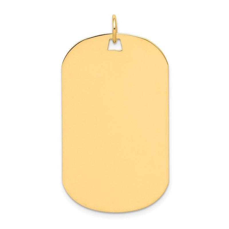 Quality Gold 14k Plain .013 Gauge Engraveable Dog Tag Disc Charm