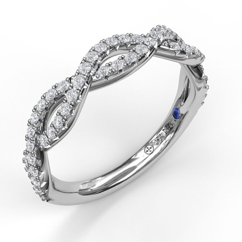 Fana Wide Twist Diamond Band