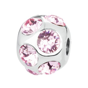 316L stainless steel and light rose Swarovski® Elements crystals.