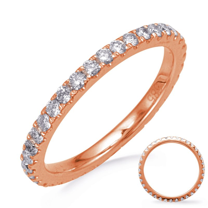 S. Kashi & Sons Bridal Rose Gold Eternity Diamond Band