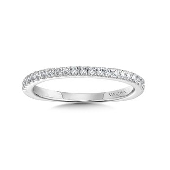 Diamond and 14K White Gold Wedding Ring (0.19 ct. tw.)
