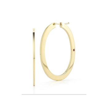 Small Oval Hoop Earrings &Ndash; 18K Yellow Gold