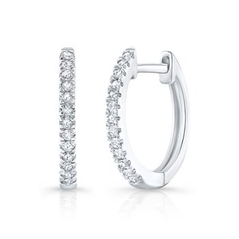 White Gold Huggie Hoops