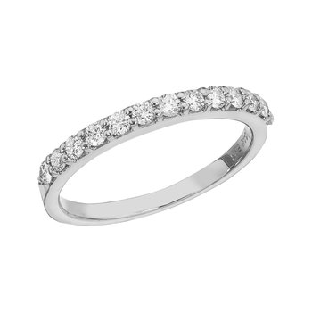 14K White Gold Diamond Diamond Band Ring