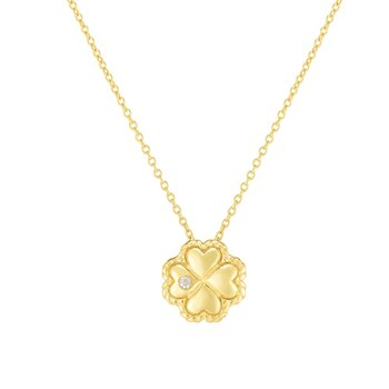 14K Gold Diamond Clover Piccolini Pendant