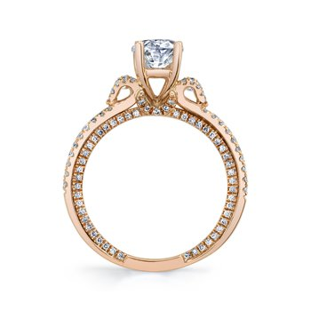 MARS 26088-Ov Engagement Ring, 0.53 Ctw.