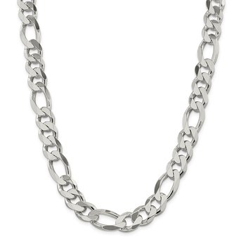 Sterling Silver 13.5mm Figaro Chain