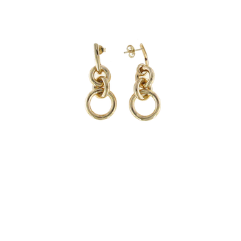 18Kt Gold Circle Loop Earrings