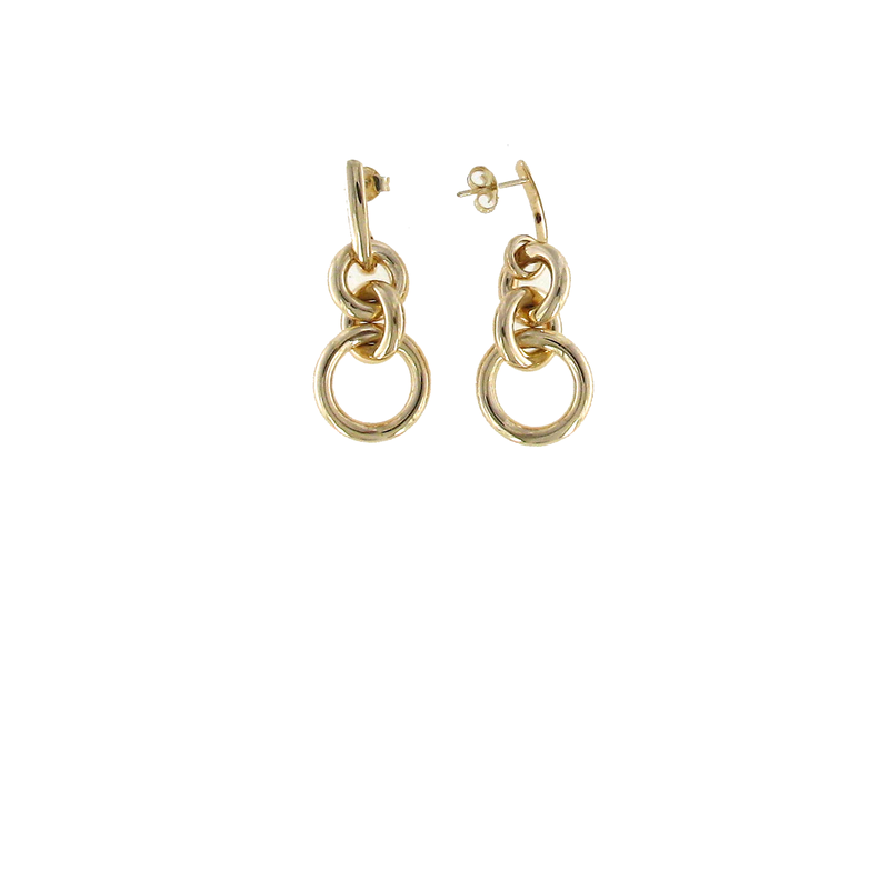 Roberto Coin 18Kt Gold Circle Loop Earrings
