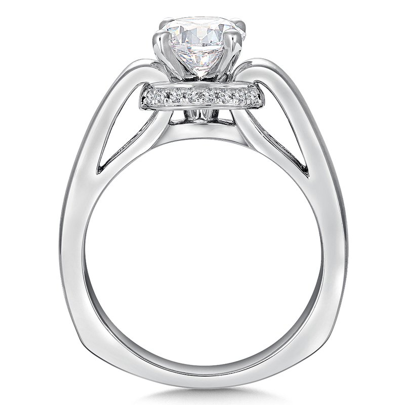 Valina Solitaire mounting .08 ct. tw., 1 ct. round center.