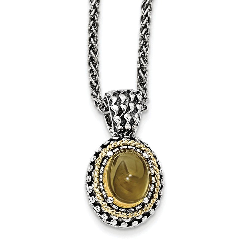 Shey Couture Sterling Silver w/14k Antiqued Citrine Necklace