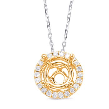 Diamond Pendant halo for 1ct center