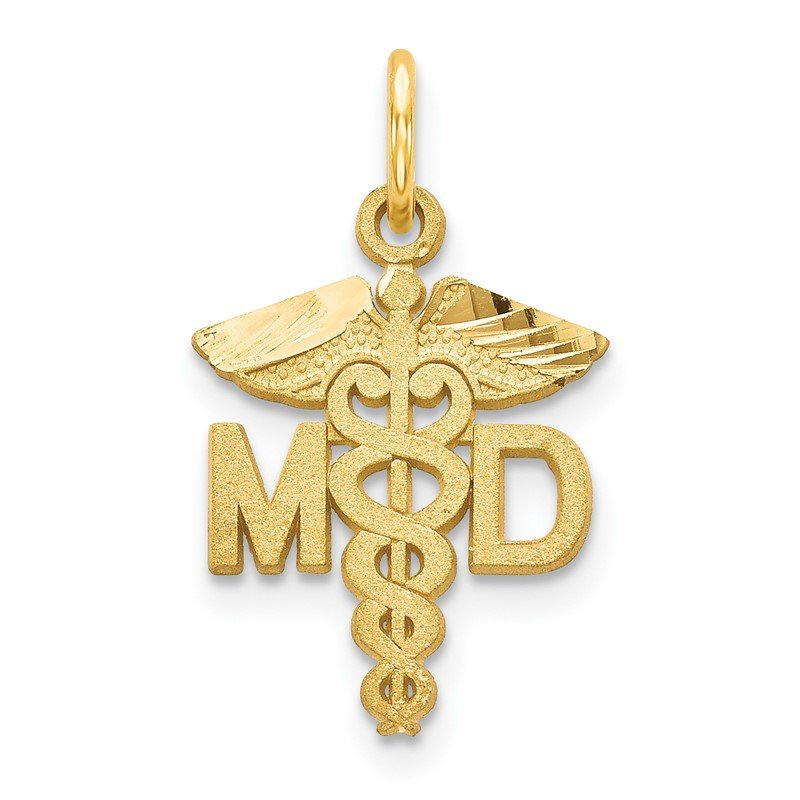 Quality Gold 14k M.D. Caduceus Charm