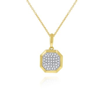 14K Diamond Geometric Necklace