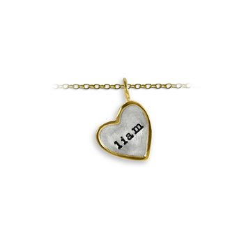 17mm Heart Shape Tag Charm with Frame