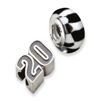 Sterling Silver 20 Matt Kenseth NASCAR Bead