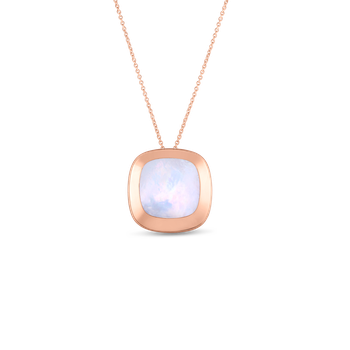 18KT GOLD LARGE PENDANT WITH MOTHER OF PEARL
