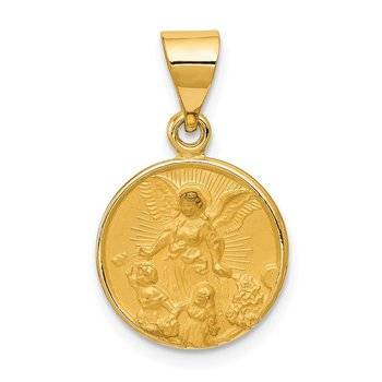 18k Guardian Angel Medal Pendant