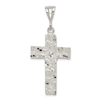 Sterling Silver Nugget Cross Pendant
