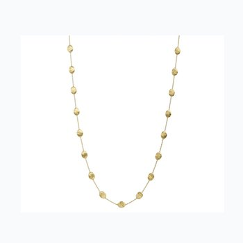 Siviglia Gold Large Bead Long Necklace