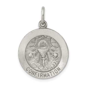Sterling Silver Confirmation Medal Charm