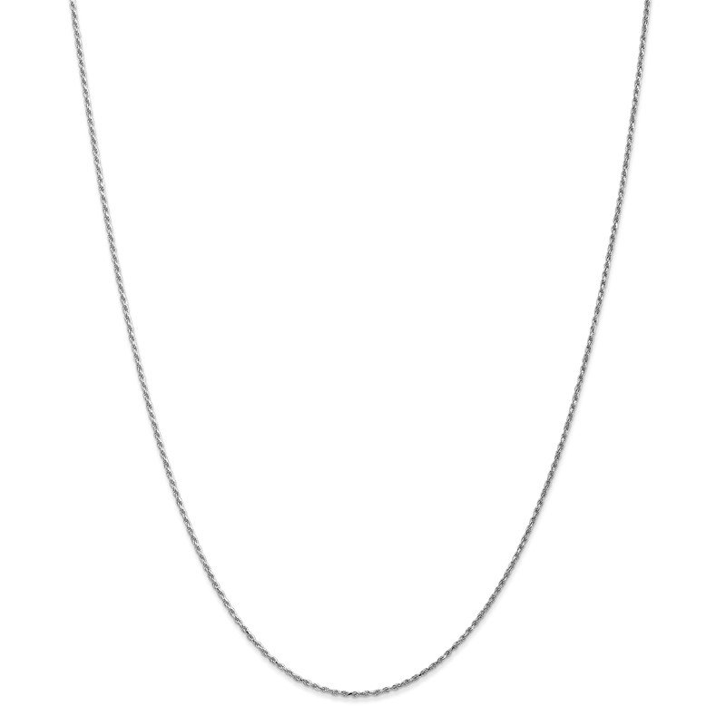 Quality Gold 14k WG 1.15mm D/C Machine-made Rope Chain Anklet