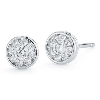 18Kt Gold Stud Earrings With Diamonds