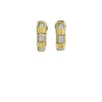 Roberto Coin 18Kt Gold Single Row Earring With Diamonds