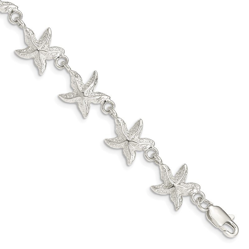 Quality Gold Sterling Silver Starfish Bracelet