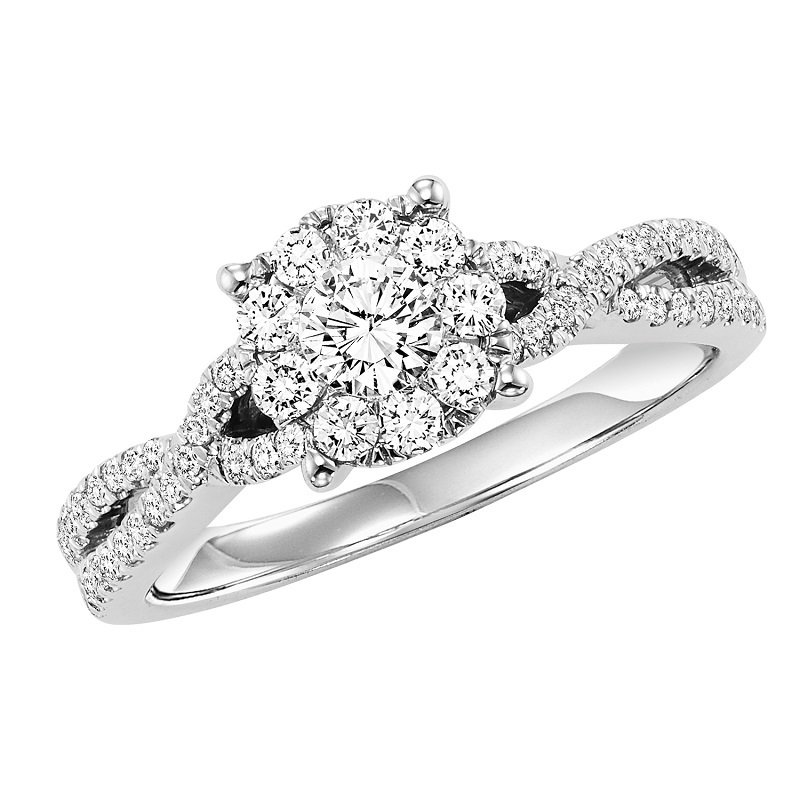 Bridal Bells 14K Diamond Dynamix Engagement Ring 3/4 ctw