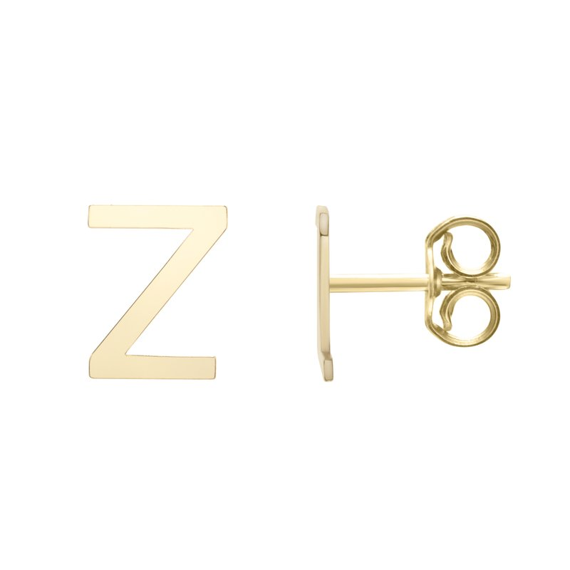 Royal Chain 14K Gold Initial Z Stud Earring