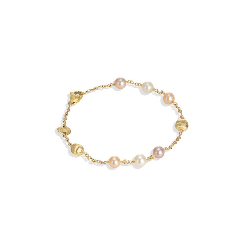 Marco Bicego Africa Pearl Collection 18K Yellow Gold and Pearl Single Strand Bracelet