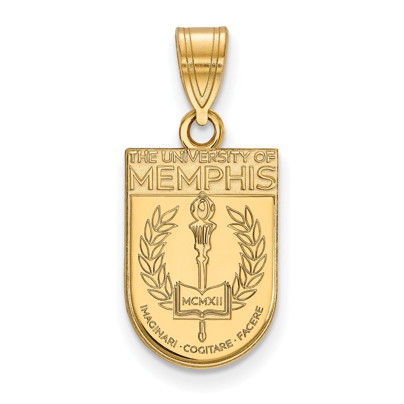 NCAA Gold-Plated Sterling Silver University of Memphis NCAA Pendant