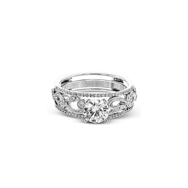 Simon G TR733 WEDDING SET