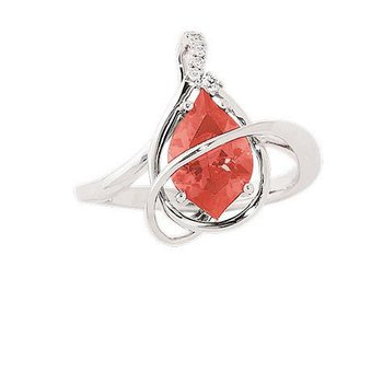 Padparadscha Ring-CR9555WPD