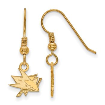 Gold-Plated Sterling Silver San Jose Sharks NHL Earrings