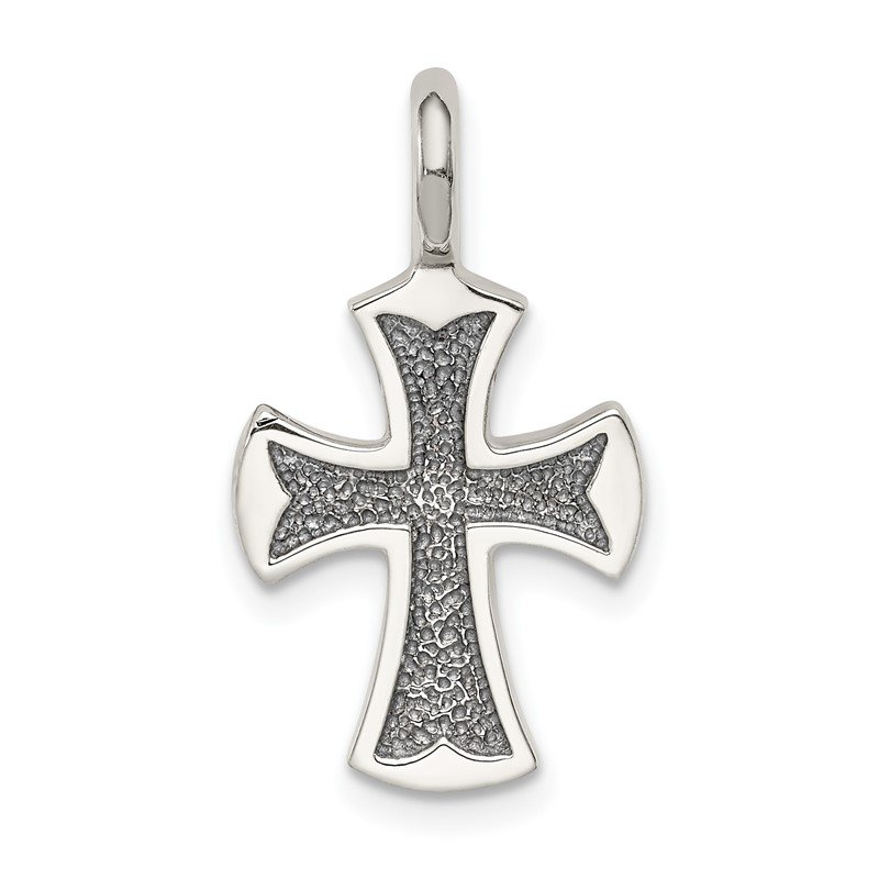 Quality Gold Sterling Silver Antiqued Cross Pendant