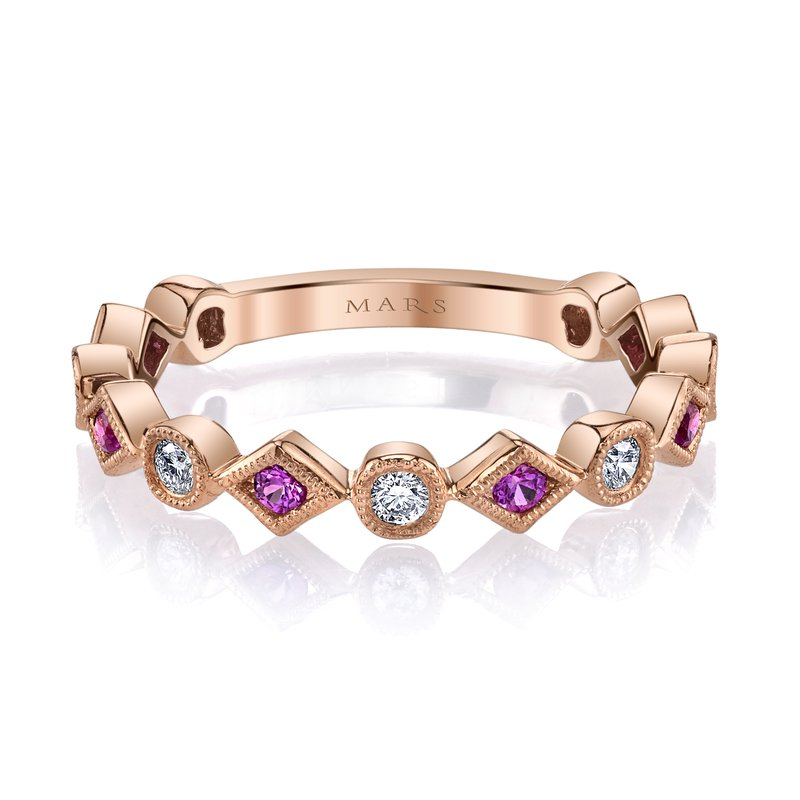 MARS Jewelry MARS 26213RGPS Stackable Ring, 0.17 Dia, 0.19 P Saph.