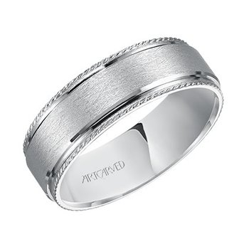 "14K White Gold ""James"" Comfort Fit Wedding Band"