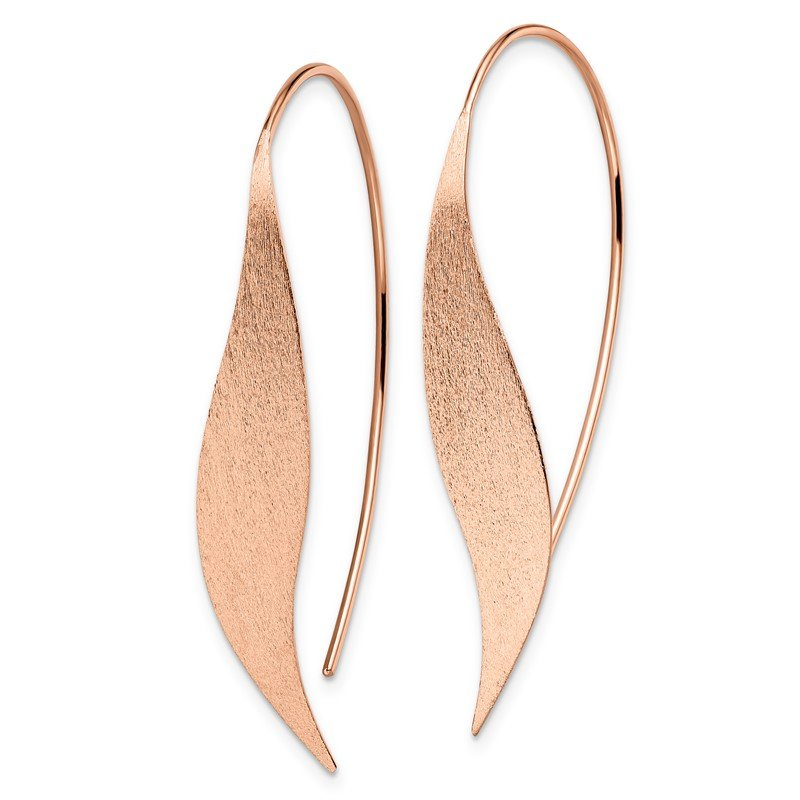 Leslie's Leslie's Sterling Silver Rose Gold-plated Polished & Brushed Earrings