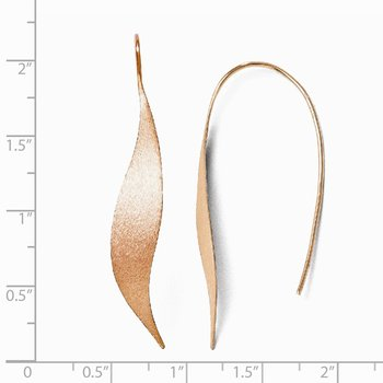 Leslie's Sterling Silver Rose Gold-plated Polished & Brushed Earrings